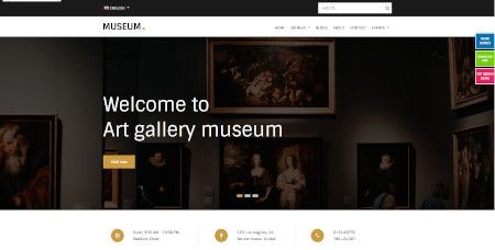 LMS Art Gallery Museum website design