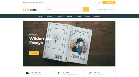 Web design for book stores