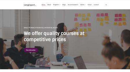 Online learning web design