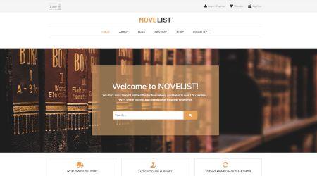 Web design for online bookstore