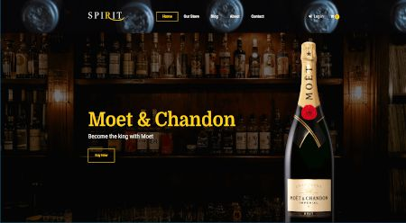 Ecommerce web design for wine and other spirits