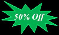 50% off an E-Commerce Website Design
