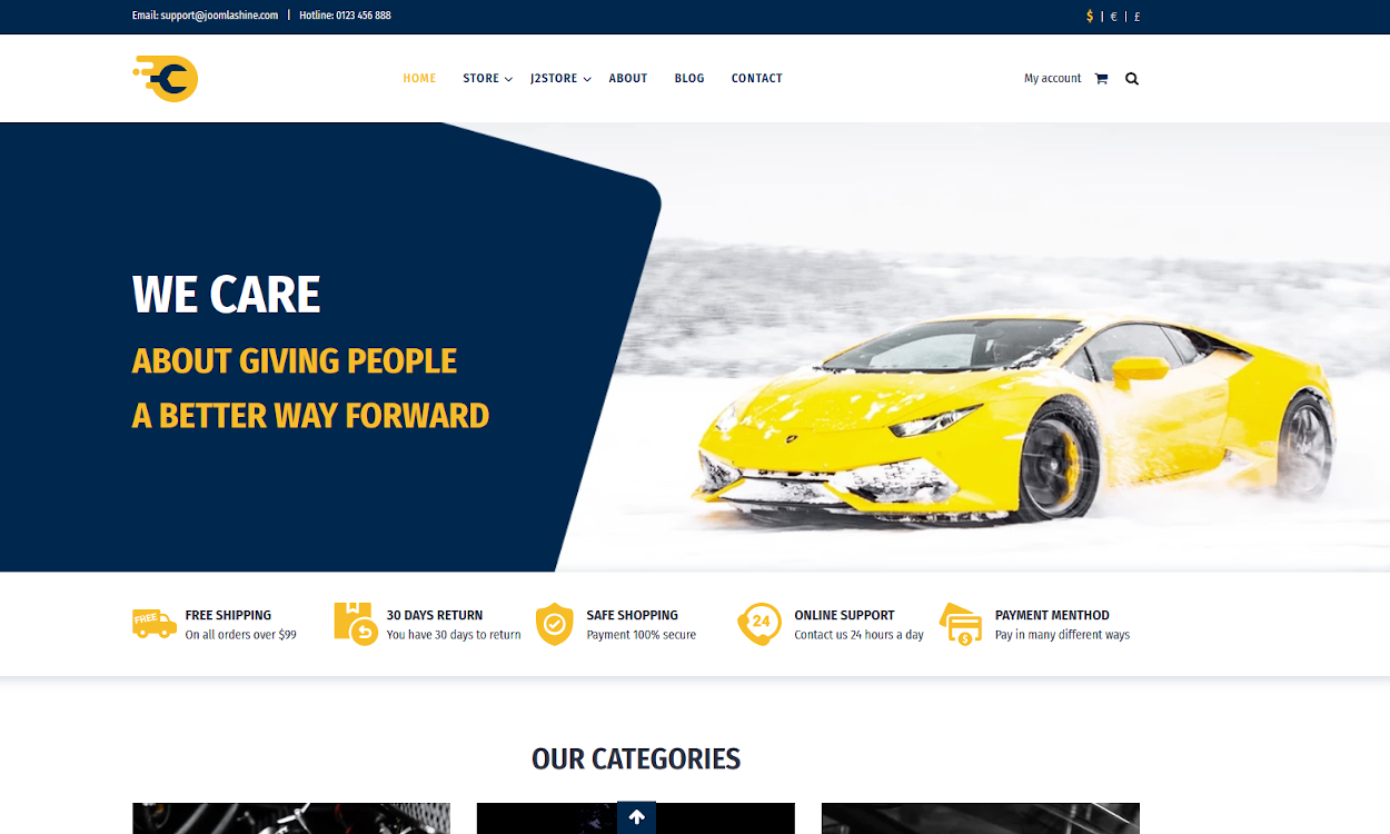 CarService Website Design
