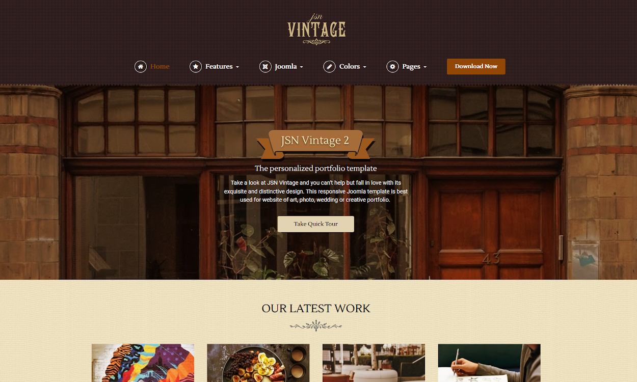 Vintage Website Design