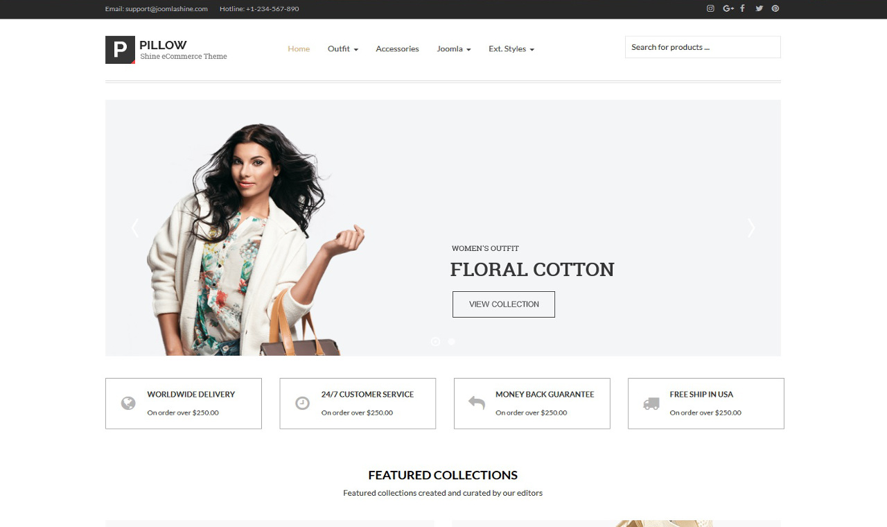 LMS Shine Fashion Store E-Commerce Web Design