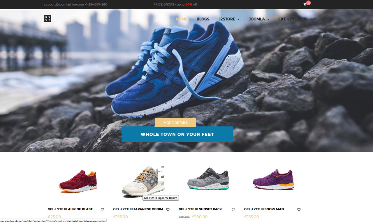 LMS Shine Shoe Store E-Commerce Web Design