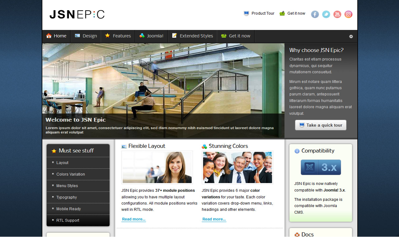 LMS Epic Web Design Template