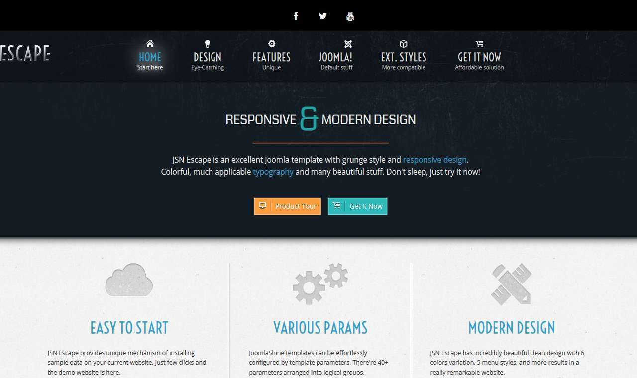 LMS Escape Web Design Template
