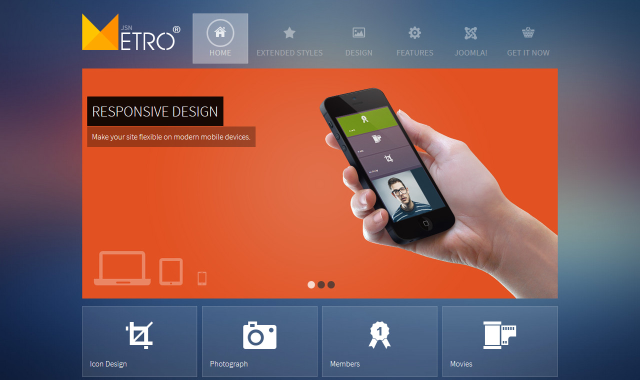 LMS Metro Web Design Template