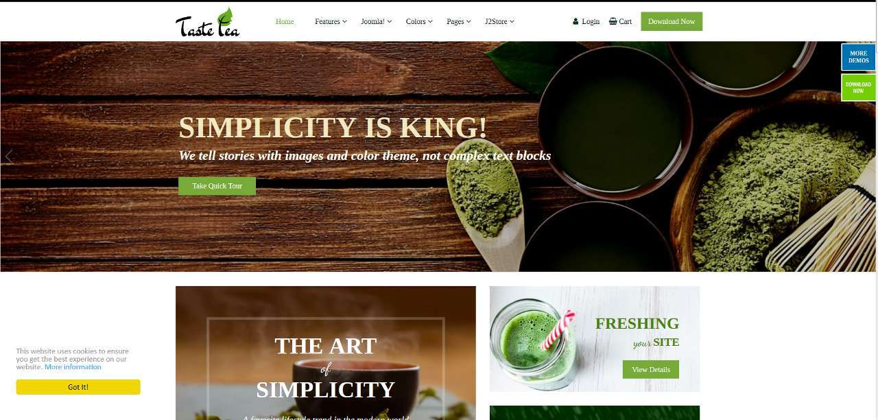 LMS TasteTea E-commerce Web Design