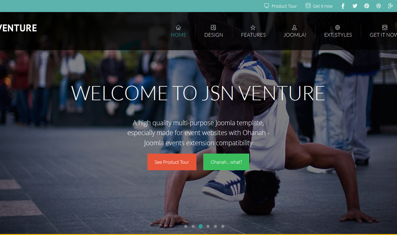 LMS Venture Web Design Template