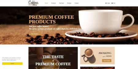 LMS Coffee Shop Website Design
