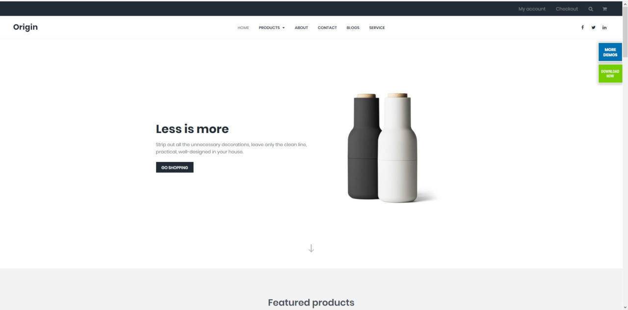 LMS Miro Origin E-Commerce Web Design