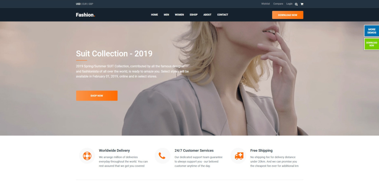 LMS Mall Fashion E-Commerce Web Design