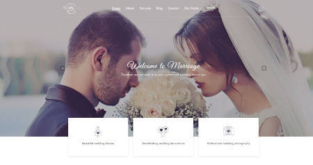 Best website design for the marriage studio business