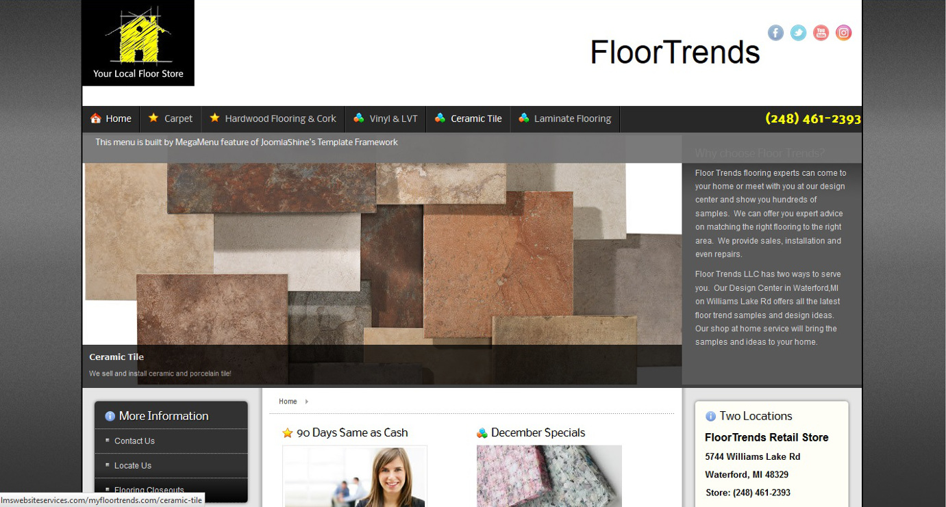 Tile website floor and decorations database floor and decorations gallery of our website design work httpslmswebsiteservicesimageswebsitegallerymyfloortrendsscreenshot og shiifo page layout tiles dailygadgetfo Image collections